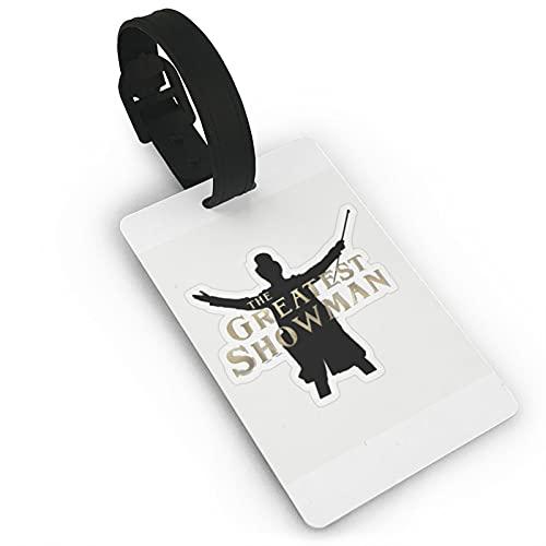 The Greatest Showman Etiquetas de equipaje de cuero para hombres y mujeres etiquetas de maleta bolsa de equipaje etiquetas de identificación etiquetas de viaje accesorios etiquetas PVC 5.6 x 9.4 cm