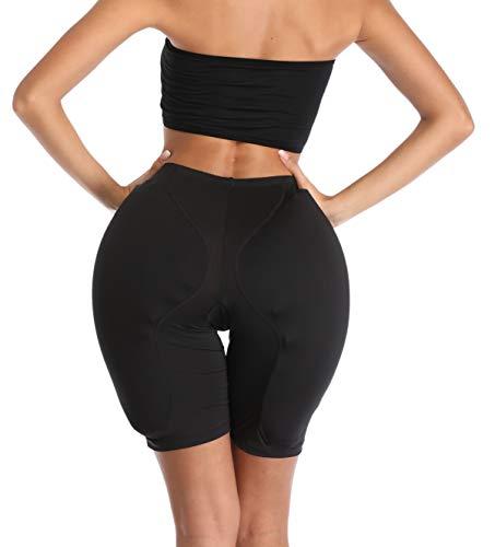 BIMEI 2PS Sponge Padded Women Butt Hip Up Padded Enhancer Crossdresser (M, Black)