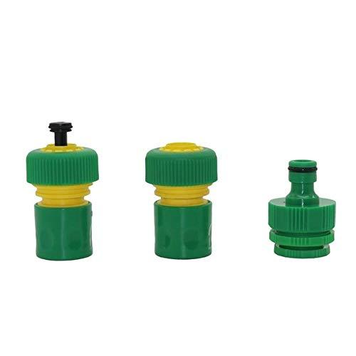 PVC grifo Conector Kit de conectores de lavado de coches pistola de agua rápida Adaptador Conjunto 3/4' Conector de la manguera de jardín manguera agua Conectores Conexiones 1 Set (Color : Green)