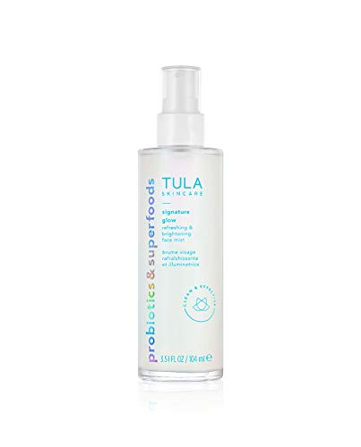 TULA Skin Care Signature Glow Refreshing & Brightening Face Mist | Oil & Alcohol Free, Hydrating & Brightening with Pollution & Blue Light Protection | 3.51 fl. oz.