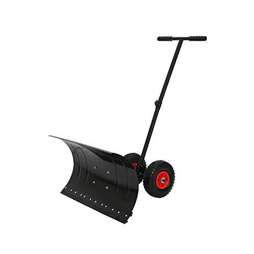 ZXWNB Trompeten-Schneeräumungswerkzeug-Schneeräumungs-Schneekehrmaschine des Fahrbaren Schneeschaufel-Snowboards Große Mit Rädern Von Hand Eindrücken,Schwarz,smallsizes