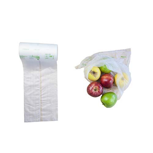 Luxos Packaging 250 Bolsas 35x45cm (SIN ASAS) Biodegradables y Compostables para uso profesional o doméstico, certificación alimentaria y OK COMPOST por TUV Austria