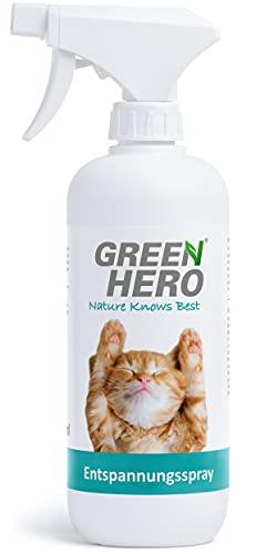 Green Hero Spray Calmante Naturale per Gatti – Calmante per Gatti con Fragranze Lenitive Naturali come Valeriana, Lavanda ed Erba Gatta - Favorisce il Benessere e il Relax - 500 ml