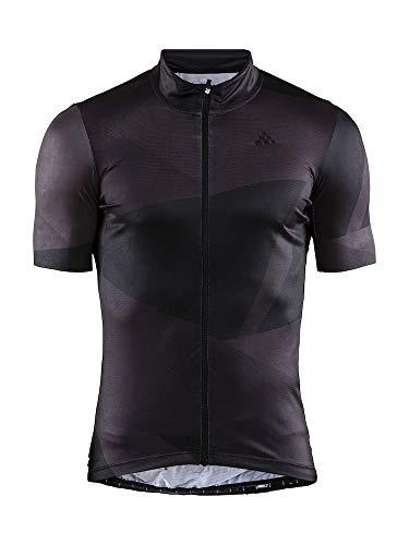 Craft Herren Kurzarmshirt Hale Graphic Biking Radfahren Radfahren Trikot LSF 50+, Herren, Hale Graphic Bike Cycle Upf50+ Full Zip Short Sleeve Jersey, schwarz, Small