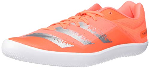 adidas Men's throwstar Running Shoe, Signal Coral/Silver Metallic/White, 8