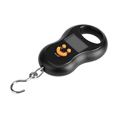 Ymiko Portable Pocket Digital Scale, Luggage Scale Fishing Hook Electronic Scale with Hanging Hook