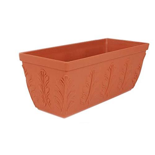 ASF15 Blumentopf/Übertopf - Blumentrog Pflanzenkübel - Großer Pflanzentrog Container Box - Blumentrog Outdoor & Balkon (Color : White, Size : 16.2x42x17.8cm)