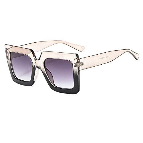 Gafas de Sol para Mujer Clásico Lujo Retro UV400 Lentes cuadradas Gafas de marco grande personalizadas Una atractiva Tendencia para Vacaciones, Tour, golf, playa MMUJERY