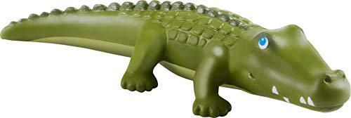 HABA 305593-Little Friends – Krokodil, Spielfigur AB 3 Jahren Figura de Juguete, Color Verde (305593)