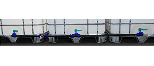 Juego de empalmes para tanques IBC de 1000 litros para agua de lluvia