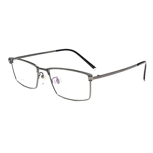 Gafas De Lectura Multifocales Progresivas Hombres Mujer Gafas Presbiópicas con Luz Anti-Azul Ver Cerca Y Lejos Marco De Metal De Titanio Puro + 1.0 A +3.0