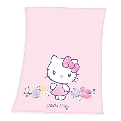Herding Hello Kitty Manta, Rosa, 130 x 160 cm