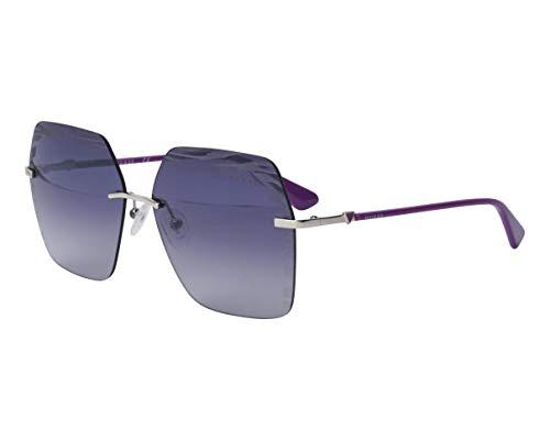 Guess occhiale da sole GU7693 10C Argento fumo taglia 60 mm Donna
