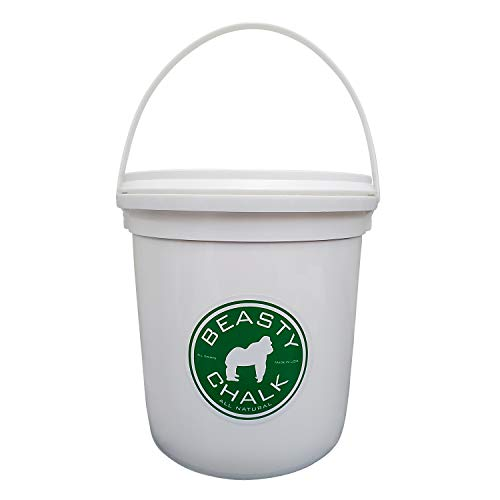 Beasty Chalk Gym Chalk Bucket with Carrying Handle - High Grip Loose Chalk for Gymnastics, Rock Climbing, Sports, Lifting, Pull-Ups, Deadlifts, Kettlebells, Pole (1)