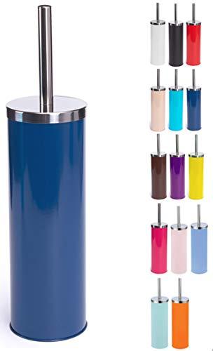 MSV 141525 Brosse de WC Acier Inoxydable/MDF Bleu Foncé 30 x 20 x 15 cm