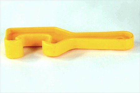 Bucket Lid Wrench - Open/Lift Lids on 5 Gallon Plastic Buckets & Small Pails - Yellow - Durable Plastic Opener Tool