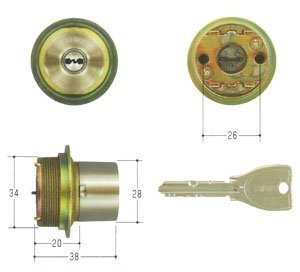 MIWA(美和ロック) PRシリンダー LIXタイプ 鍵 交換 取替え MCY-243 TE0/LIXステンレスへヤーライン色(ST)33〜42mm
