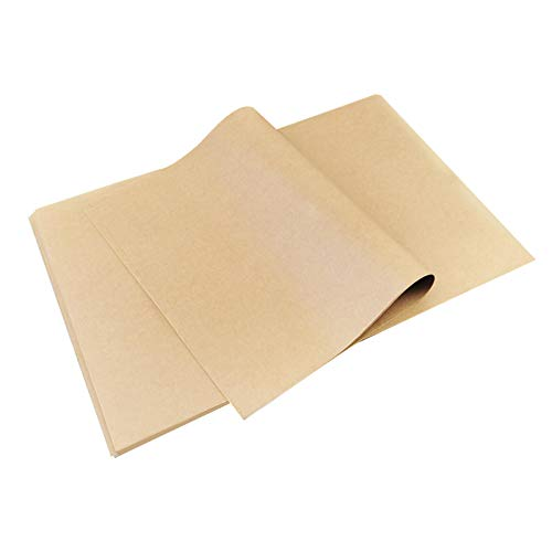 Unbleached Parchment Paper Sheets 100 Pieces, 7.5x11.5 Inches Non-stick Baking Paper, Cookies Paper Sheets for Cook, Grill, Steam, Pan, Air Fryers and Hamberger Wrap Paper (7.5x11.5 Inches)