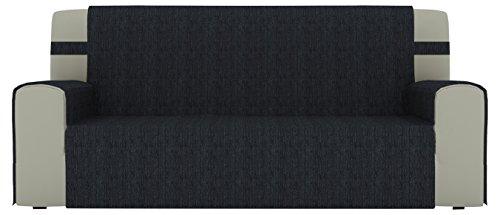 Eiffel Textile Parigi–Copri Divano 4posti 190 x 195 x 2 cm Nero
