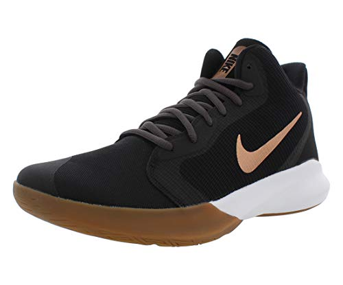 Nike Precision III Basketball Shoe, Black/Metallic Copper-Thunder Grey, 6.5