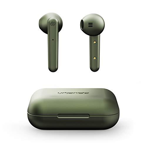 Urbanista Stockholm True Wireless Kopfhörer. 14H gesamt Akkulaufzeit. Bluetooth 5.0 inkl. Ladebox, Touch Bedienung und doppel Mikrofon Kopfhörer. Kompatibel mit iOS und Android - Grün