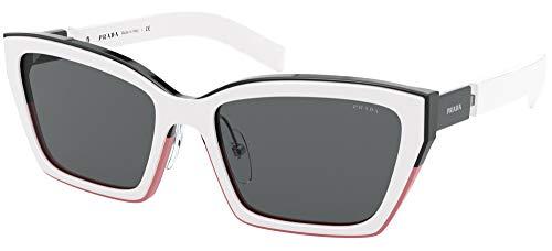 Prada sonnenbrille PR 14XS 02C5S0 Schwarz grigio größe 56 mm Damen