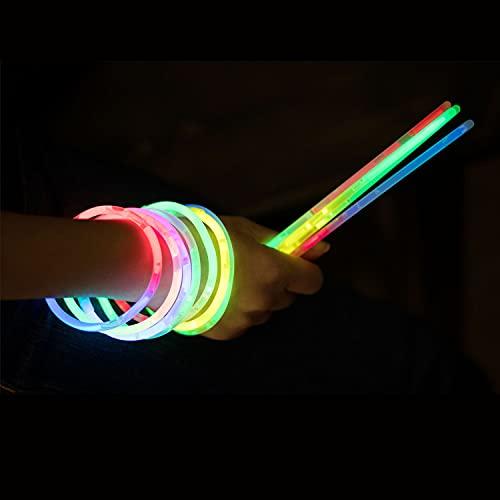 KnickLichter Glowinx - 100 barras luminosas, mexcla de 7 colores, set completo...