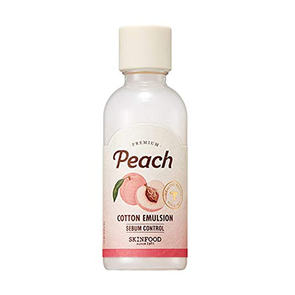 シード配分シュートSkinfood プレミアムピーチコットンエマルジョン/Premium Peach Cotton Emulsion 160ml [並行輸入品]