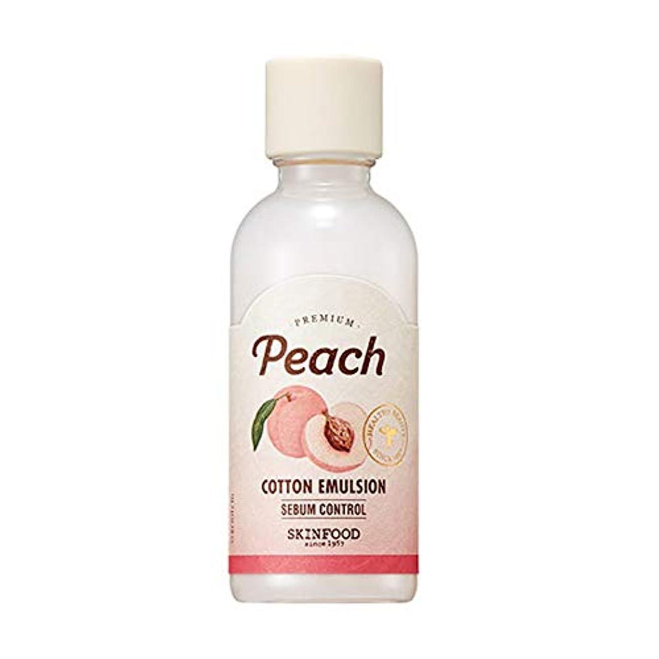 動的攻撃脅威Skinfood プレミアムピーチコットンエマルジョン/Premium Peach Cotton Emulsion 160ml [並行輸入品]