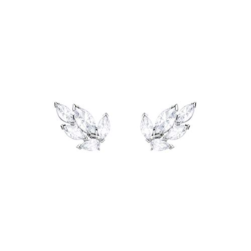 Swarovski Louison Stud Earrings for Women with White Swarovski Crystals on a Rhodium Plated Setting