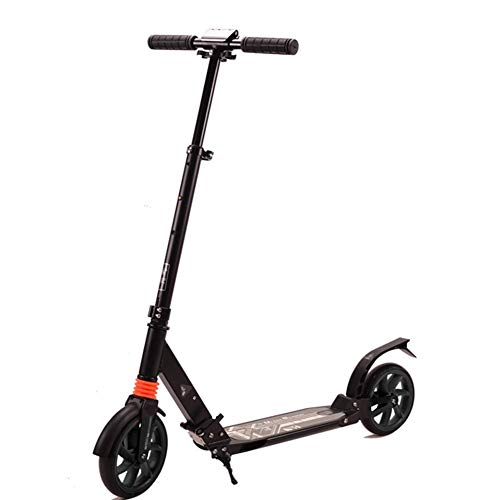 NBSDQ Children Kicking Scooter Scooter, Non-Electric One -Legged Two-Wheeled Large-Wheel Folding Adult Scooter, is a Campus Short-Distance Work and Other travel Tools