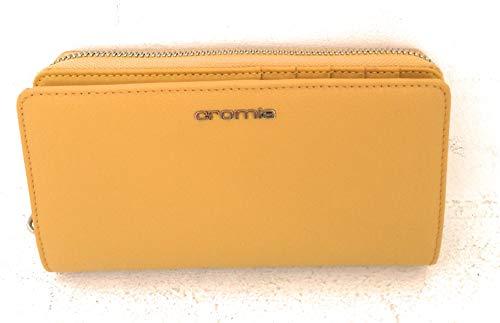 CROMIA WALLETS AKUA PORTAFOGLI DONNA PELLE SENAPE mis. 20x10 cm.
