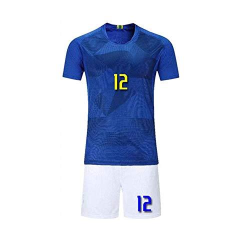 Kinder Jungen Fussball Trikots Marcelo #12 Kind-Ausrüstung Männer Sports Trainingstrikots,A,L
