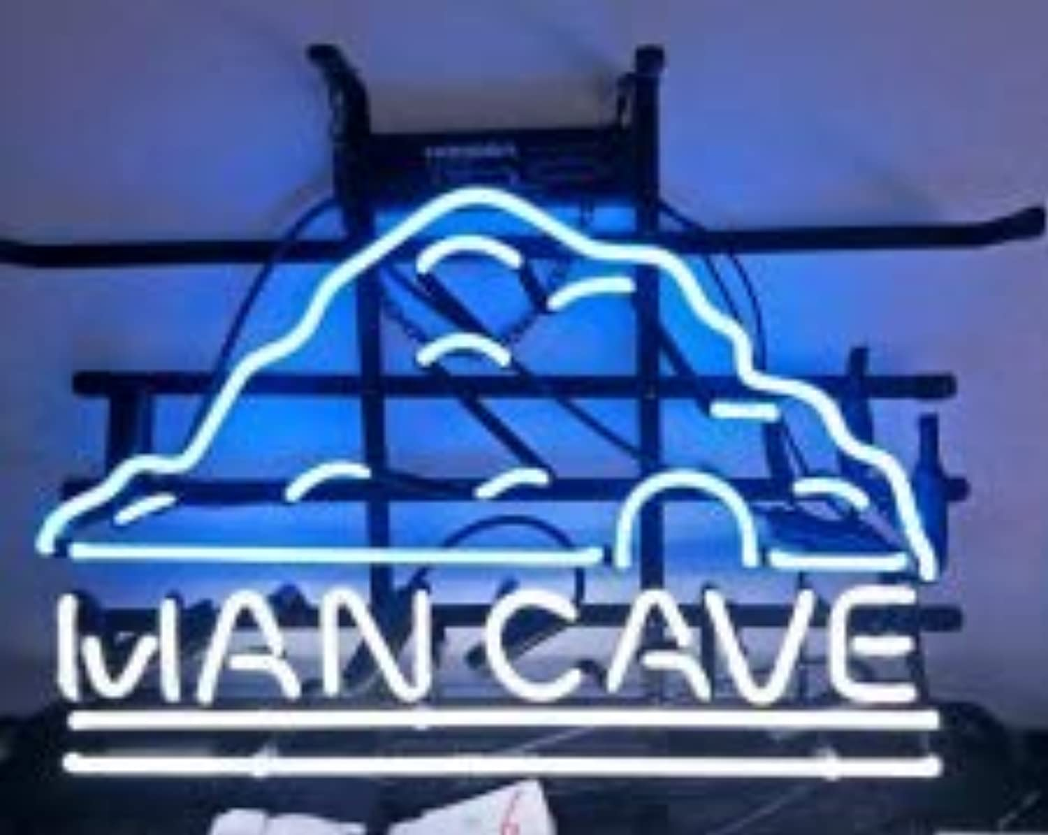Man cave Hand Crafted Glass Tube neon Sign 17(w) insx13(h) ins Neon Sign Lights Beer Bar Sign