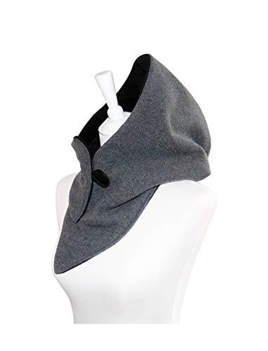 Kapuzenschal - Wolle grau-melange, Schal, Tücher