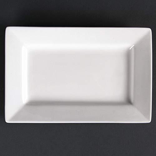 Lumina CD629 Lot de 6 assiettes rectangulaires en porcelaine fine