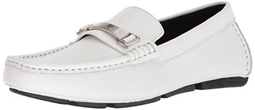 Calvin Klein Herren Maddix Driving-Stil, Loafer, weiß, 42 EU