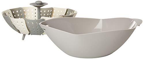 Premium Silicone Steamer Basket set - Multipurpose Bread Maker, Seafood Poacher