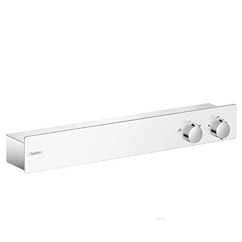 hansgrohe Duschthermostat ShowerTablet 350, Brausethermostat Aufputz, Weiß/Chrom