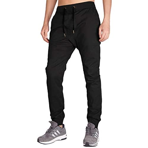 ITALY MORN Men's Jogger Trousers Elasticated Waist