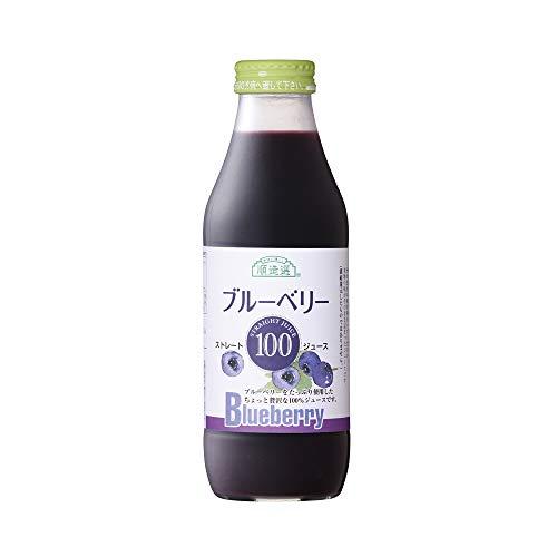 順造選 ブルーベリー100(果汁100%ストレート)500ml×6本入りセット