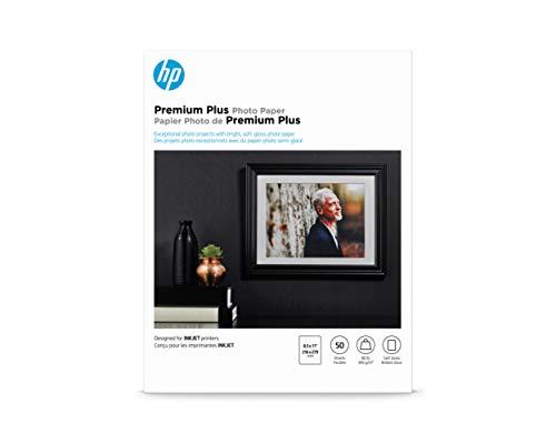 HP Premium Plus Photo Paper   Soft Gloss   8.5x11   50 Sheets