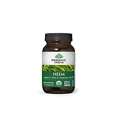 Organic India Neem Herbal Supplement – Supports Skin, Immune, & Liver Health, Detox, Healthy Inflammatory Response…