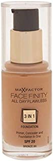 Max Factor Facefinity 3 in 1 Foundation 80, Bronze (81377983)