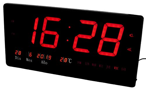 JeVx Reloj Digital Grande Pared CON NUMEROS GRANDES