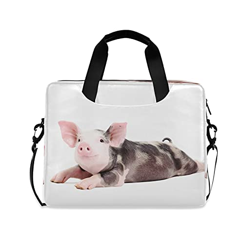 CCDMJ Laptop Case Cute Animal Pig Piggy Laptops Sleeve Shoulder Messenger Bag Briefcase Notebook Computer Tablet Bags with Strap Handle for Women Man Boys Girls 16 Inch