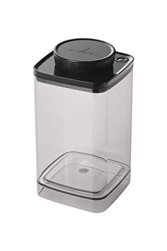 ANKOMN ダイアル式真空保存容器ターンシール UVカット クリスタル 半透明 (1.2L)コーヒー豆 約300~400g コーヒー粉 約200g 真空・密閉・密封
