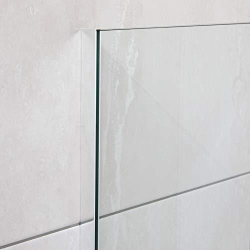 U-Profil Aluminium für Glas (Wandbefestigung),Wandanschlussprofil für Duschen, 2010 x 20 x 12 x 20 x 2mm, Chromoptik
