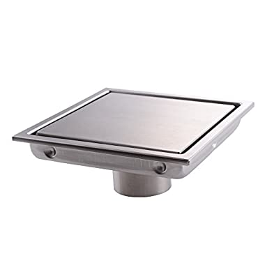 KES Invisible Tile-in Drain 6-Inch by 6-Inch SUS 304 Stainless Steel Rustproof with Strainer, V252S15
