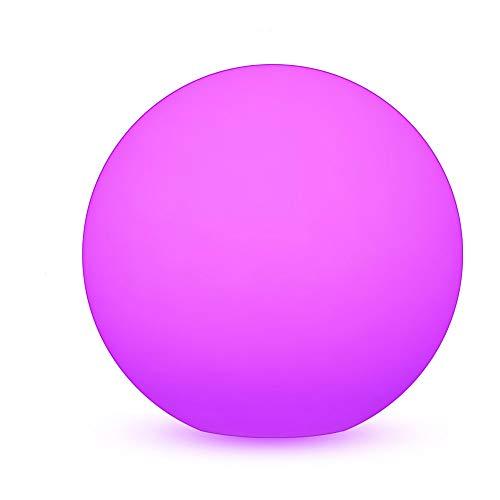 MRCOOL LED Light Ball Lampe Dekorlicht 40cm / 16-Zoll mit Fernbedienung, 16 Dimmbaren Farben und RGB-Farbwechsel für Innen, Außen, Rasen, Garten, Pool Patio, Party